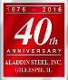 Aladdin Steel proudly celebrates 40 years in business
